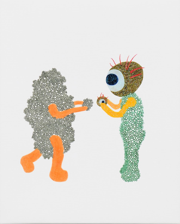 目マンと石さんの目石交換